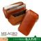 イタリア製ヌメ革 タンポナートレザーシリーズ(テラローザ)L字ファスナー ギャルソンウォレット