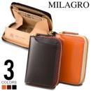 milagro ミラグロ コードバン ラウンドファスナー BOXコインケース oh-bp001