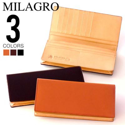 milagro ミラグロ コードバン 通しマチ付き長財布 oh-bp004